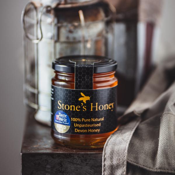 Stone's Honey, Pure, Natural, Unpasteurised, Devon Honey in Jar