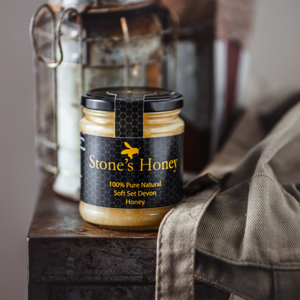 Stone's Honey, Pure, Natural, Soft Set Devon Honey in Jar