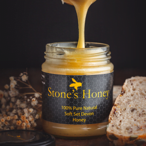Stone's Honey, Pure, Natural, Soft Set Devon Honey in Jar